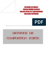 Méthode de Composition Ecrite
