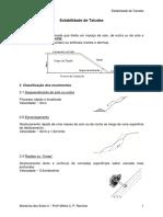 Mecânica dos Solos II - Estabilidade de Taludes