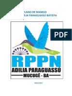 Plano de Manejo Rppn Adilia Paraguassu Batista