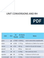 RAC L Unit Conversions and RH