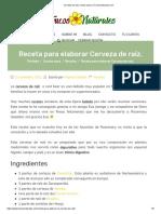 Cerveza de Raíz_ Receta Casera _ Trucosnaturales.com