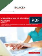 ADMINISTRACION DE RECURSOS HUMANOS PUBLICOS - UNIDAD I