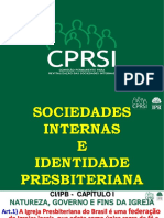As sociedades Internas e a Identidade Presbiteriana - CONTEÚDO