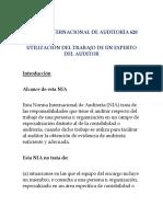 Norma Internacional de Auditoría 620