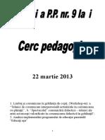 Referat Cerc Pedagogic