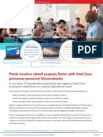 Finish creative school projects faster with Intel Core  processor-powered Chromebooks