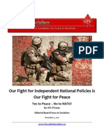 Our Fight for Independent National Policies is Our Fight for Peace, No to NATO