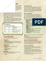 Player Class - The Commoner