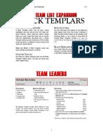 Black Templars - Kill Team List Expansion -  v3.2