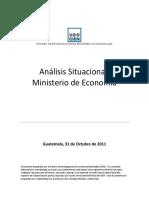 Analisis Situacional Ministerio de Economia 10-31-2011