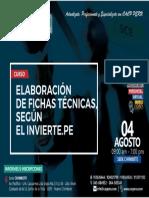 Elaboracion de Fichas Tecnicas segun Invierte.pe