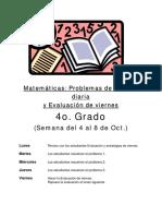 Matemática - problemas 4to grado