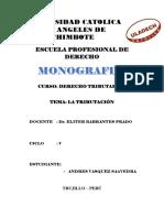 monografía tributación