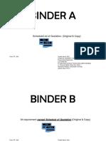 Binder a & Binder b