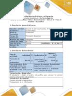 Guía de Actividades y Rúbrica de Evaluación - Paso 3 - Realizar El Proceso de Análisis Con La Población Objeto de Estudio