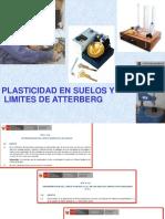 6.0 Plasticidad en Suelos y Limites de Atterberg 2019