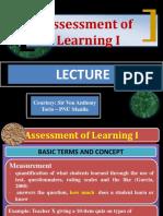 CBRC Assessment of Learning I