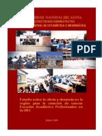 Estudio Sobre La Oferta y Demanda Para La Creacion de Nuevas EAP de La UNS