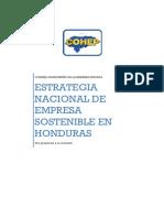 Estrategia Nacional de Empresa Sostenible en Honduras Cohep-2013