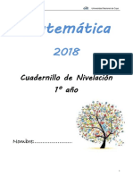 Cuadernillo Matematica Para Ingresantes 1 2018