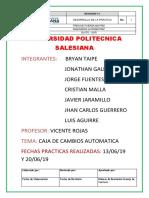 Informe Cajas Automáticas