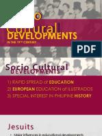 Socio-Cultural Developments in the 19th Century