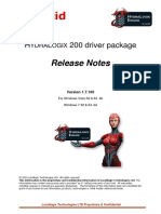 HYDRALOGIX 200 driver package