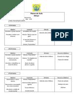 Plano de Aula - Pré 1 e 2