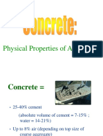 PHYSICAL PROPERTIES OF CONCRETE AGGREGATES