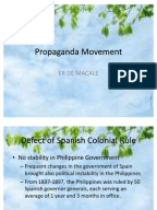 propaganda movement and literature of protest The ensuing protest, known as the bangabhanga andolon [a protest to (stop) sanglap: journal of literary and connecting the propaganda movements to the.