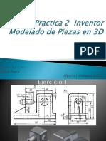 Practica 2 Modelado 3D Inventor