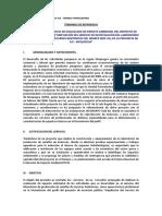 TdR Evaluacion de Impacto Ambiental 2013