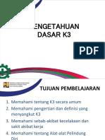 Bimtek Petugas K3 - 05. Pengetahuan Dasar K3