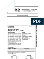 Fairchild Semiconductor MM74C922N Datasheet