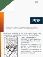Perfil de Meteorización Profesora María Isabel Mesa