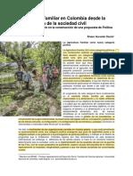 Acevedo (2018). Agricultura Familiar en Colombia Desde La Participación de La Sociedad Civil