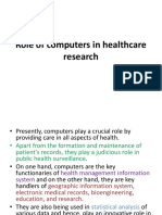 7 - Role of computers in healthcare research.pptx