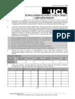 Fire Checklist