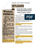 1946 Massacre in Bengal, India