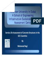 Service Life Assessment of Concrete Structures in the GCC Countries