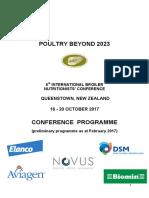 2017 Poultrybeyond2023 Prelim Programme