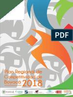 Plan Regional de Competitividad Boyacá - Actualización 27 de Junio 2018