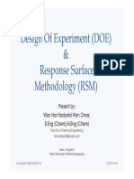 Design of Experiment and Response Surfac