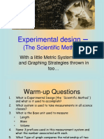 Experimental Design Scientific Method and GraphingREVISED
