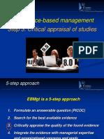 EBMgt Course Module 8 Critical Appraisal