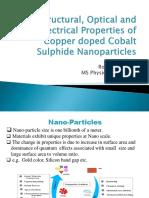 copper doped Cobalt sulfide nano-particles