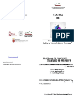 Modelos Programa Folio Recitales