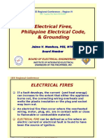 Electrical Fires, PEC & Grounding