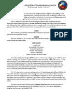 Values Restoration Program Overview