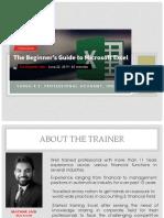 Excel Beginners Guide